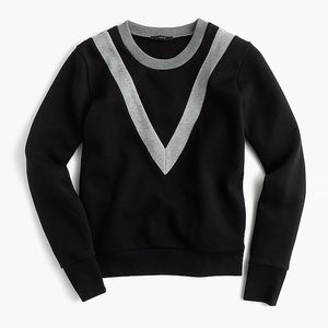 NWOT J. Crew Medium Black Varsity Sweatshirt